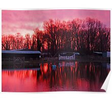 Sunrise at the Flooded Stables Poster
