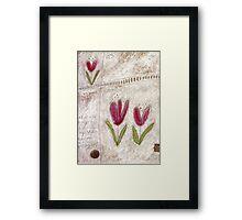 The tulip garden Framed Print