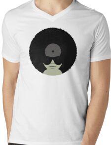 Funky Music Afro Vinyl Records Mens V-Neck T-Shirt