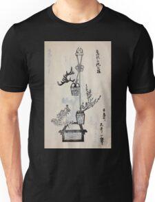 Yenshu ryu ikebana hiak bin no zu shiki konzatsu Flower arrangement in the Enshu style V2 1897 0015 Unisex T-Shirt