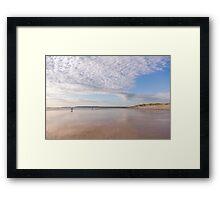 Beautiful evening light at Westward Ho! beach in North Devon, UK Framed Print