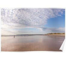 Beautiful evening light at Westward Ho! beach in North Devon, UK Poster