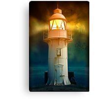 At the Lighthouse Canvas Print
