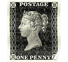 Penny Black Stamp Poster
