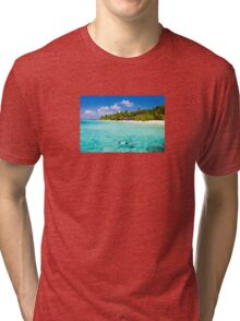 Snorkelling in the Maldivian Atolls - Indian Ocean Tri-blend T-Shirt