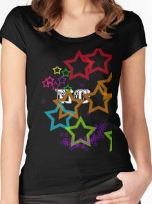 Rainbow Stars 2 Women's Fitted Scoop T-Shirt