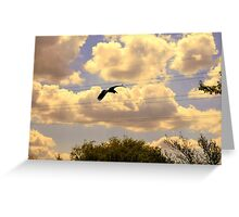Going To The Wire Greeting Card