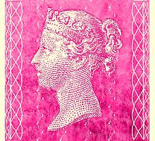 Penny Black Stamp in Magenta by jripleyfagence
