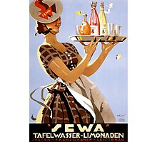 Sewa German Vintage Poster Restored Photographic Print
