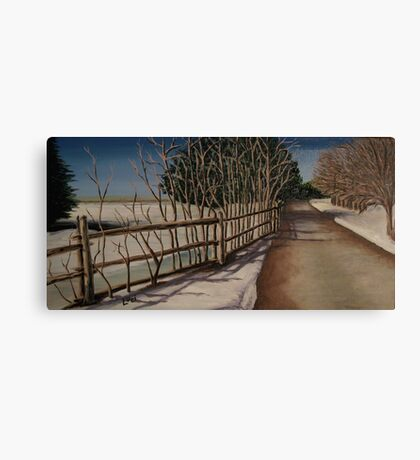 Oil - Road to Nowhere Canvas Print