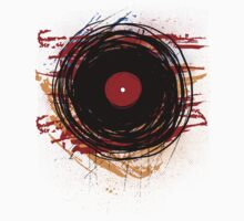 Vinyl Record Retro Grunge with Paint and Scratches - Music DJ! Kids Clothes