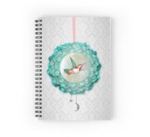 Hummingbird, Moon and Star Spiral Notebook