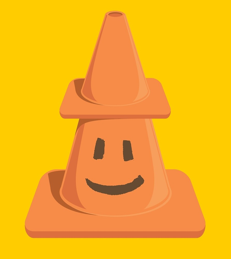 Safety Cone's New Hat by bortwein