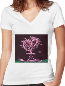 Valentine Hearts Forever Women's Fitted V-Neck T-Shirt