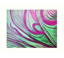 Healing waves in purple, green, and white  Art Print