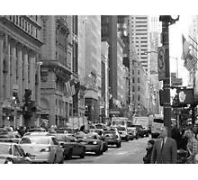 Busy Fashion  Street - New York 5th Avenue Photographic Print