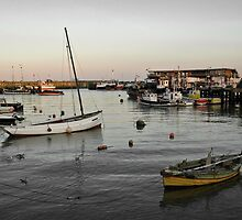 Bridlington harbour dusk - mono blend by StephenRB