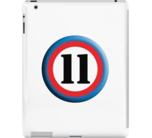 11, Eleven, Eleventh, ROUNDEL, TEAM SPORTS, NUMBER 11, Competition iPad Case/Skin