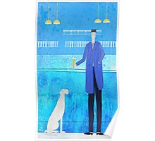 Man and Dog in a Bar Poster