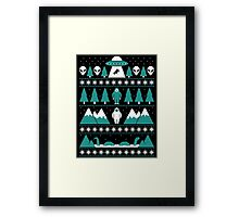 Paranormal Christmas Sweater Framed Print