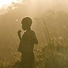 Boy at dusk by kimwild