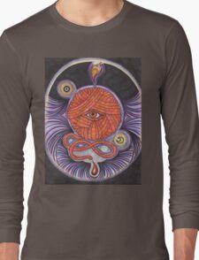 KNITCROMANCY: Unraveling the Cosmic Yarn Long Sleeve T-Shirt