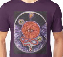 KNITCROMANCY: Unraveling the Cosmic Yarn Unisex T-Shirt