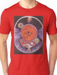 KNITCROMANCY: Unraveling the Cosmic Yarn Unisex T-Shirt