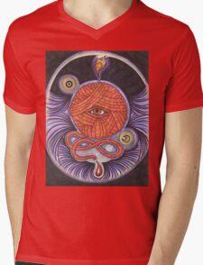 KNITCROMANCY: Unraveling the Cosmic Yarn Mens V-Neck T-Shirt