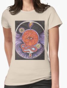 KNITCROMANCY: Unraveling the Cosmic Yarn Womens Fitted T-Shirt