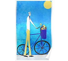 Man and Bicycle Poster