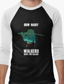 """How Many Walkers Have You Killed?"" Men's Baseball ¾ T-Shirt"