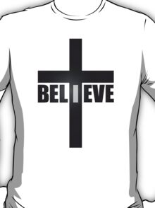 Believe Christianity Cross Symbol  T-Shirt