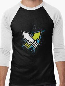 Splatoon - Turf War (Blue Splat) Men's Baseball ¾ T-Shirt