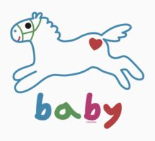 Baby pony t shirt & onsie by Andi Bird