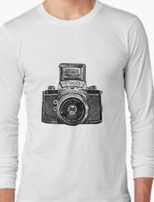 Giant East German Camera - Black Long Sleeve T-Shirt