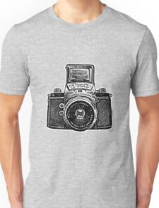 Giant East German Camera - Black Unisex T-Shirt