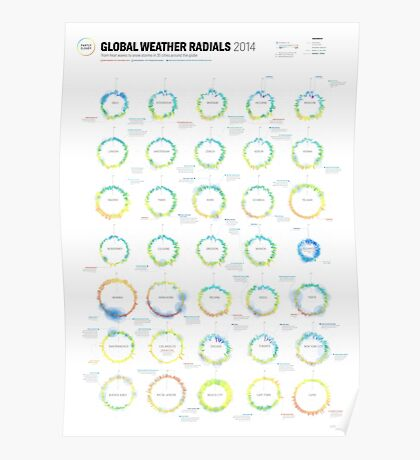 Infographic Weather Radials 2014 Poster
