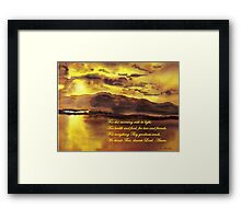 Thank God! Framed Print