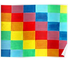 Color Flag made of rectangle rainbows of colors. Poster