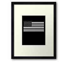 American Flag, STARS & STRIPES, USA, America, Americana, Funeral, Mourning, in Mourning, Black on Black Framed Print