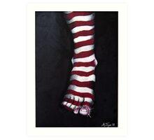 Stripy Steps Art Print