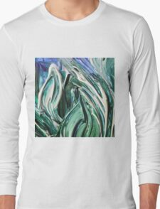 Abstract Leaves Long Sleeve T-Shirt