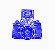 Giant East German Camera - Blue Unisex T-Shirt