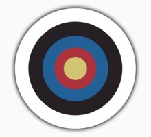 Bulls Eye, Archery, Right on Target, Roundel, on WHITE Kids Clothes