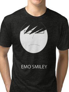 Emo Smiley Tri-blend T-Shirt
