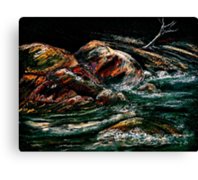 Landscape...Rushing River Canvas Print
