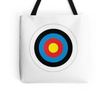 Bulls Eye, Archery, Right on Target, Roundel, Shooting, on White Tote Bag