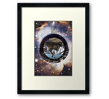 Some Things In A Circle Over A Pictures In Space Framed Print