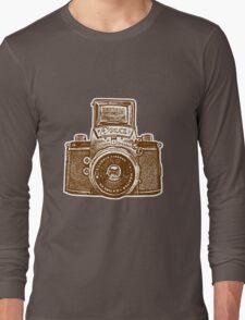 Giant East German Camera - Brown Long Sleeve T-Shirt